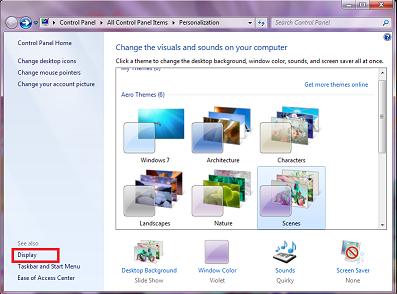 Change DPI Settings in Windows 7